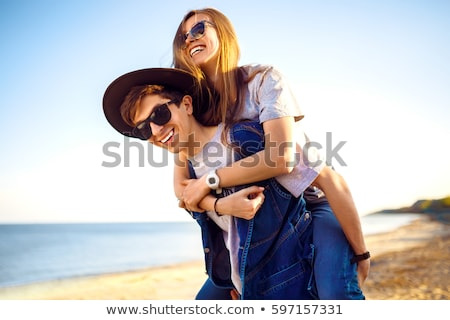 Stock photo: Embracing People in Love and Summer Season City