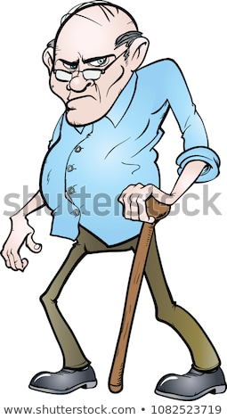 Cartoon grouchy man Stock photo © bennerdesign