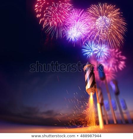 nieba · fajerwerków · przypadku · 3d · ilustracji · strony - zdjęcia stock © solarseven