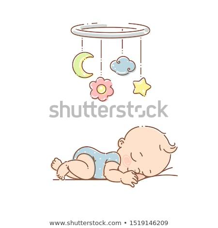 Csend baba alszik gyermek otthon szépség Stock fotó © Lopolo