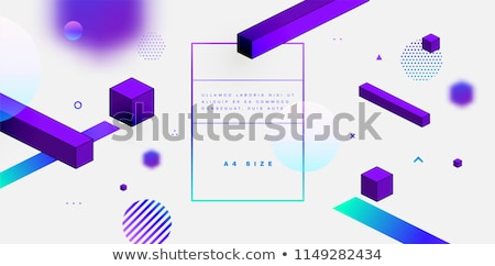 Movimiento diseno gráfico 3D aterrizaje página Foto stock © RAStudio
