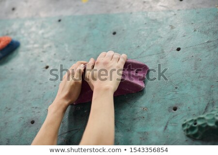 Iki eller bir yapay kayalar Stok fotoğraf © pressmaster