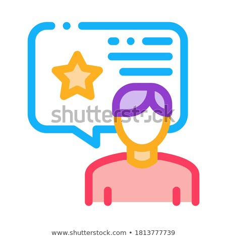 человека бонус консультант икона вектора Сток-фото © pikepicture