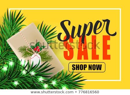 Christmas verkoop winkel nu reductie prijs Stockfoto © robuart