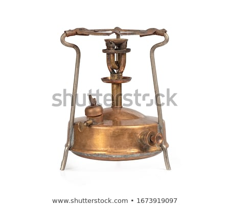 Retro bronz tűzhely konyha ház divat Stock fotó © nomadsoul1