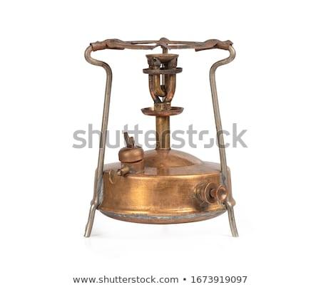 Retro bronce estufa cocina casa moda Foto stock © nomadsoul1