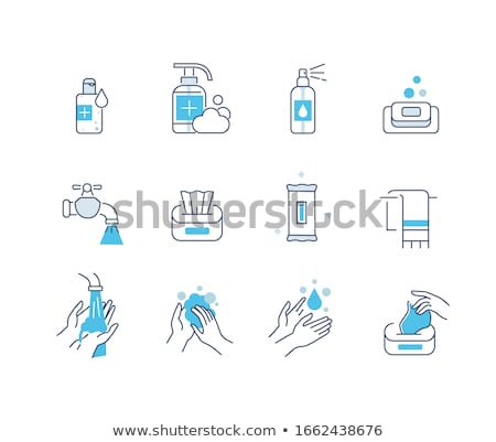 Hand Healthy Hygiene Collection Icons Set Vector Stock photo © pikepicture