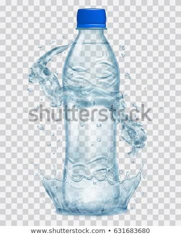 Water wave splash around full glass. Stock photo © artjazz