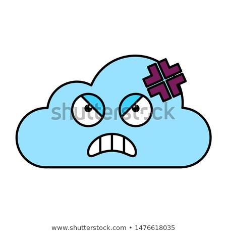 Mad burzy Chmura naklejki ilustracja Zdjęcia stock © barsrsind