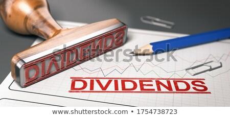 Distributie corporatie woord dividend Stockfoto © olivier_le_moal