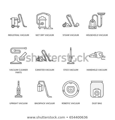 Home Vacuum Cleaner Icon Vector Outline Illustration Stok fotoğraf © Nadiinko