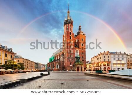 Główny placu Polska historyczny domów Zdjęcia stock © borisb17