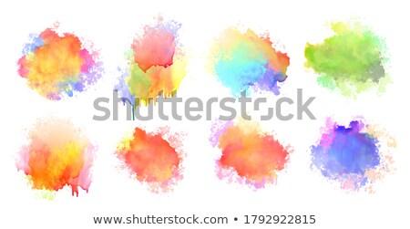 Isolado aquarela agitar-se mancha colorido conjunto Foto stock © SArts