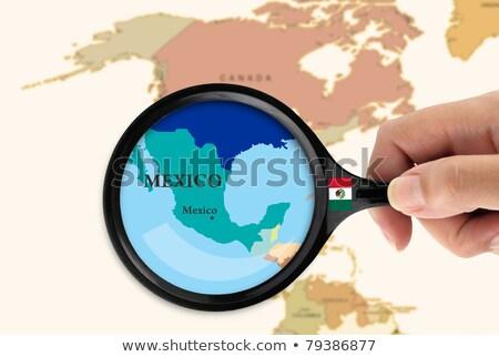 lupą · Meksyk · słowo · biały · okulary · podróży - zdjęcia stock © kbuntu