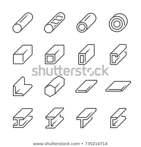 Set of Metallic Icons Stock photo © jamdesign