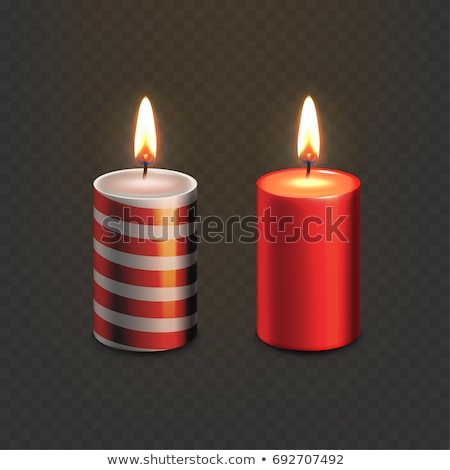 lighted candles on a red background Stock photo © g215