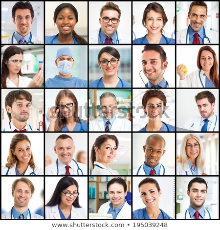 Collage of a team of doctors Stock photo © photography33
