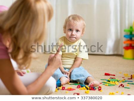 Anne oğul yalıtılmış beyaz erkek çocuk Stok fotoğraf © pekour