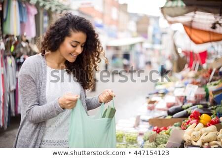 çekici esmer yerel pazar iş kadın Stok fotoğraf © photography33