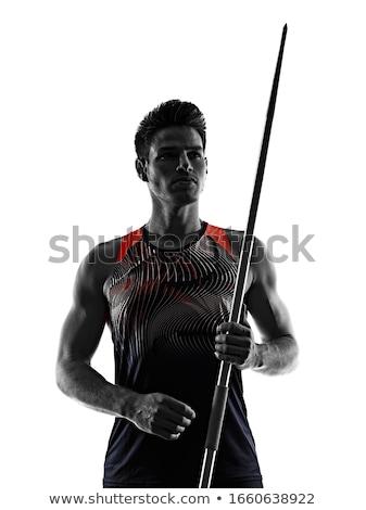 Atleet vrouwelijke track veld sport Stockfoto © stevemc