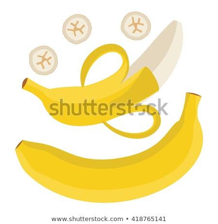 Single yellow banana Stock photo © boroda