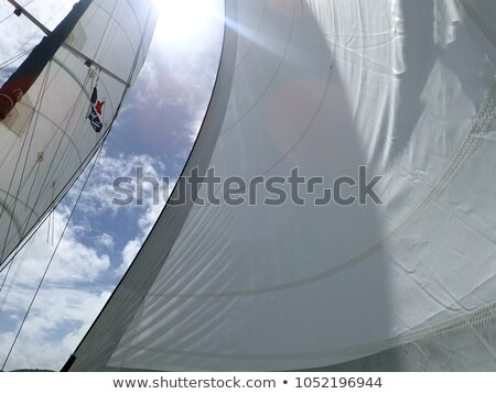 Sunlight Through Sailing Ship Rigging Stock photo © pixelsnap