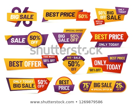 Stock photo: Set of big sale cards