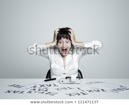 woman taxes due stock photo © piedmontphoto