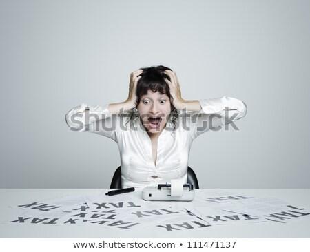 Woman Taxes Due Stock photo © piedmontphoto
