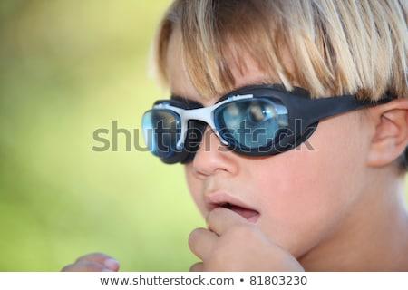 Nerveus zwemmen stofbril gezicht Stockfoto © photography33