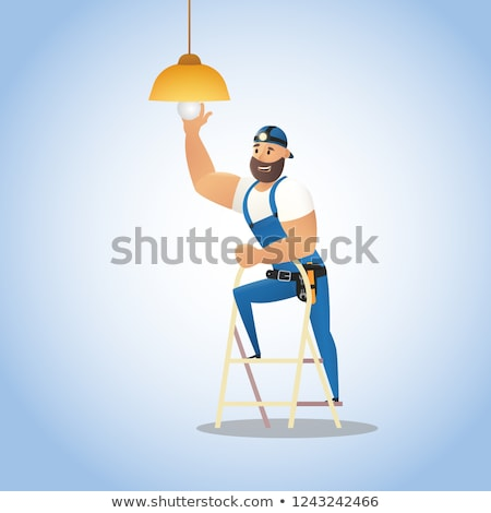 Electricians and a stepladder Stock photo © photography33