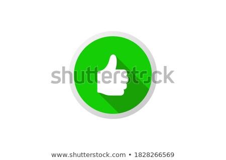 szavazás · zöld · gomb · kéz · kurzor · fehér - stock fotó © donskarpo