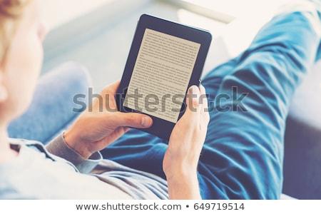 Ebook czytelnik urządzenie odizolowany biały Zdjęcia stock © papa1266