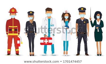 firemen at work Stock photo © tomistajduhar