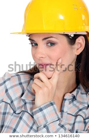 Tradeswoman contemplating life Stock photo © photography33