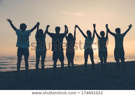 Nastolatków kobieta człowiek morza bikini Zdjęcia stock © photography33