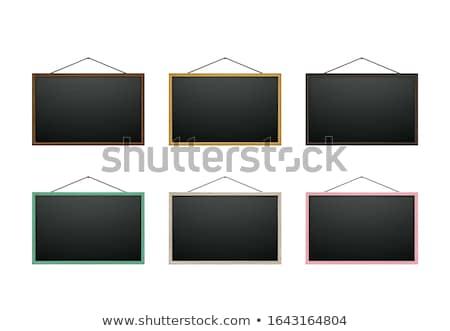 geïsoleerd · Blackboard · houten · frame · school - stockfoto © ozaiachin