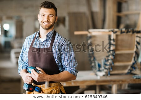 Woodworker holding drill Stock photo © photography33