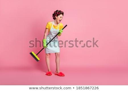 ストックフォト: かなり · 若い女性 · 着用 · 衣装 · 魔女 · 青
