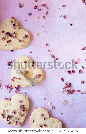 keksz · lekvár · karácsony · édes · piros · tömés - stock fotó © m-studio