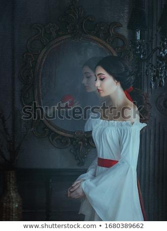 feliz · mulher · jovem · brilhante · vestir - foto stock © zdenkam