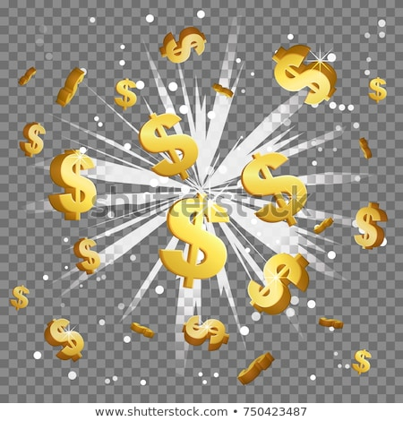 Arany dollárjel izolált fehér pénzügy bank Stock fotó © grasycho