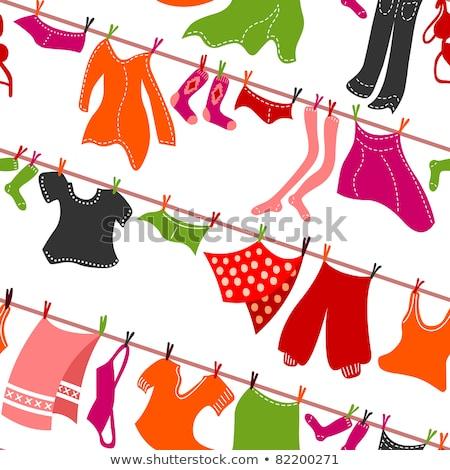 Pink panties hang on the clothes line Stock photo © Grazvydas