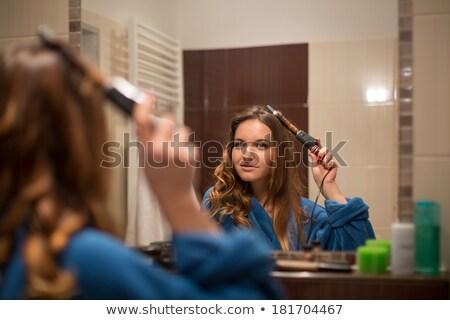 волос · щетка · белые · волосы · одевание · инструменты · пена - Сток-фото © photography33
