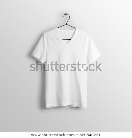 Ruházat vállfa póló fehér póló akasztás Stock fotó © Lightsource