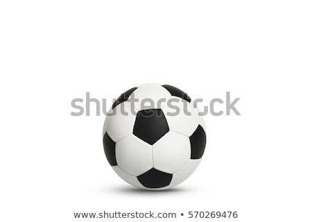 Voetbal witte sport voetbal achtergrond Stockfoto © Quka