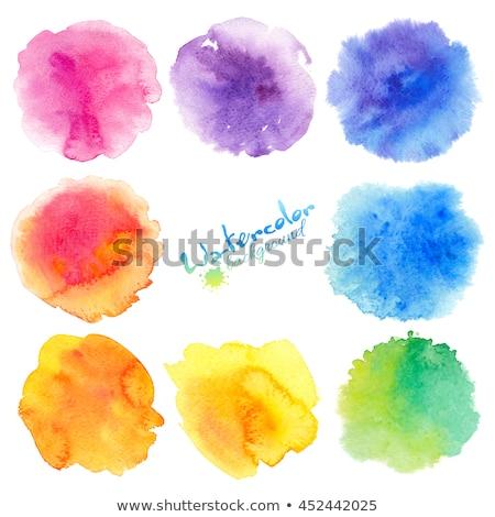 Kleurrijk aquarel spatten vector ingesteld abstract Stockfoto © beaubelle