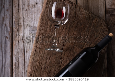 Low Key Wine Glass and Cork Stock photo © AlphaBaby