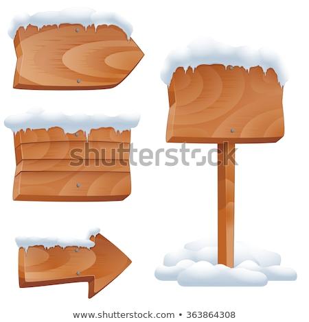 заморожены указатель иллюстрация снега небе знак Сток-фото © UPimages