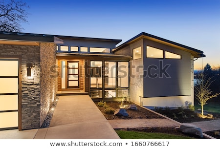 Moderne architectuur wolkenkrabber ontwerp 3D model mijn Stockfoto © ixstudio